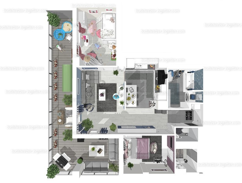 Budai Walzer I. ütem - 4 szoba erkéllyel