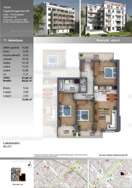 B8 Zugló - 4 szoba erkéllyel