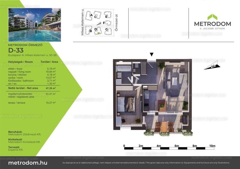 Metrodom Őrmező - 2 szoba erkéllyel