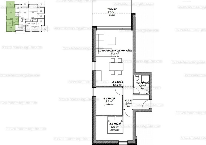 ForeverHomes - 3 szoba erkéllyel