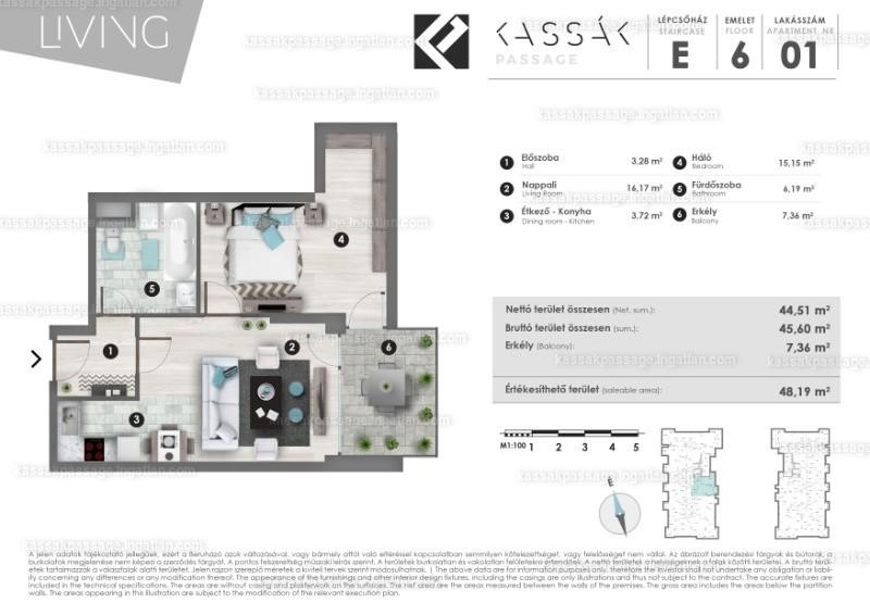 Kassák Passage - 2 szoba erkéllyel