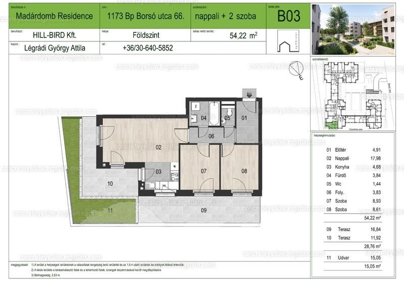 Madárdomb Residence - 3 szoba kertkapcsolattal