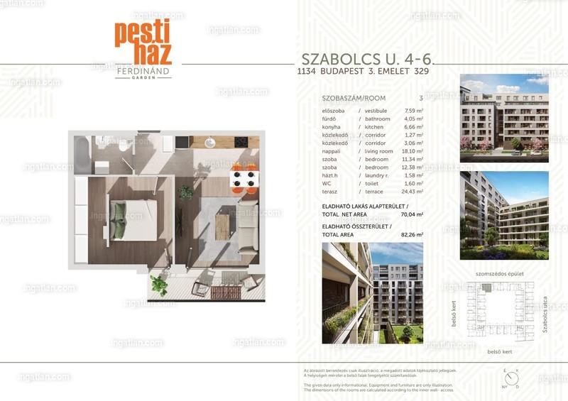 Pesti Ház - Ferdinánd Garden - 2 szoba erkéllyel