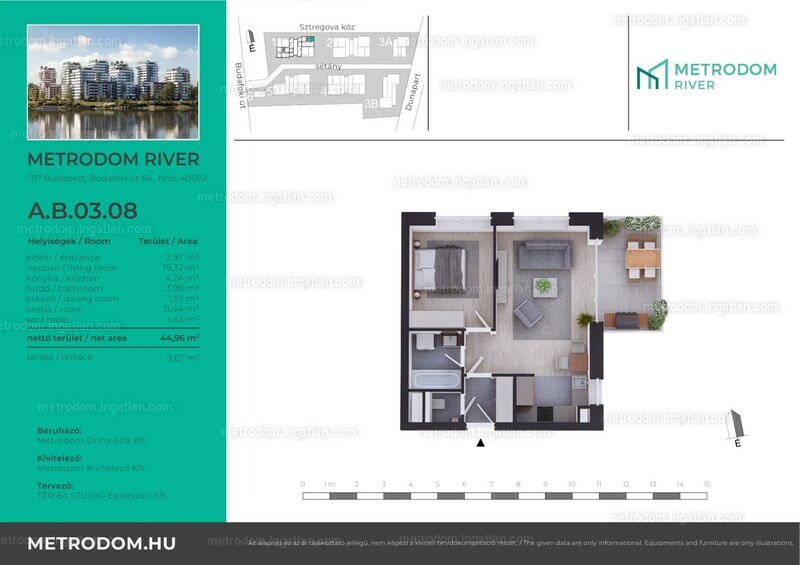 Metrodom River - 1 + 1 szoba erkéllyel