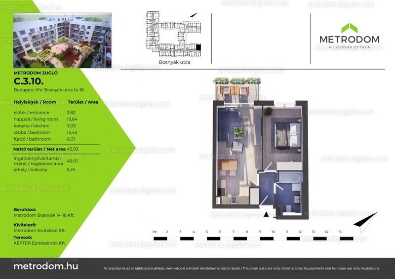 Metrodom Zugló - 2 szoba erkéllyel