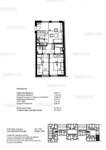 Orgonaliget Lakópark - 1 + 2 szoba