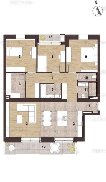 Elite Park - 2 + 2 szoba erkéllyel