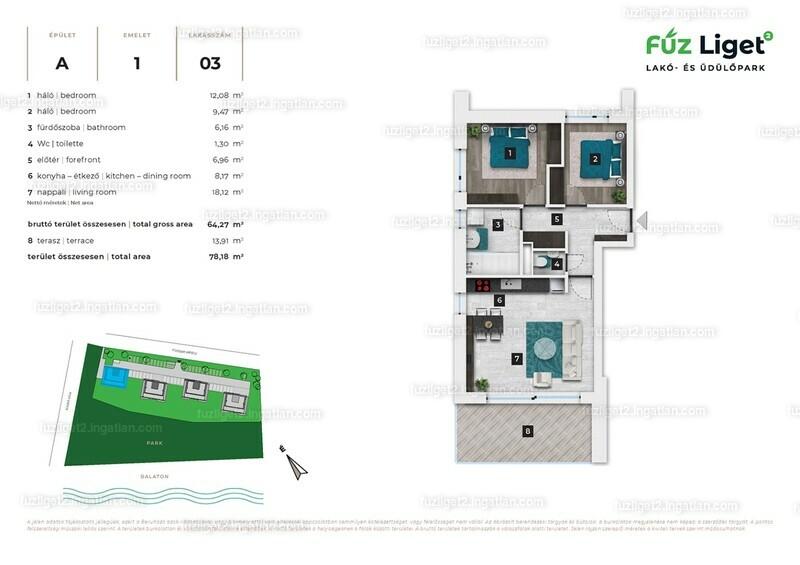 Fűz Liget Lakó- és Üdülőpark 2 - 3 szoba erkéllyel