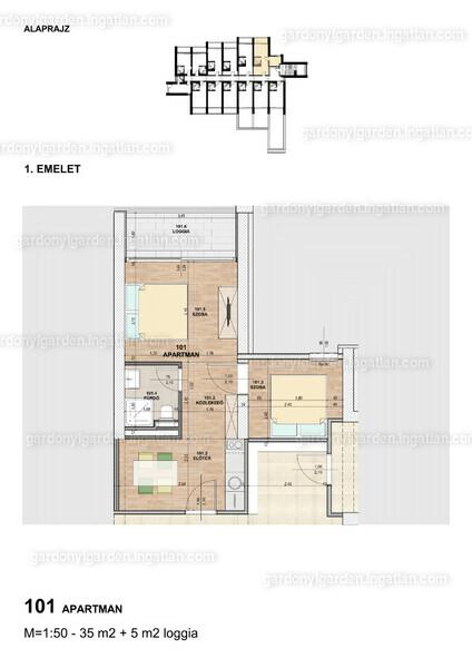 Gárdonyi Garden - 2 szoba erkéllyel