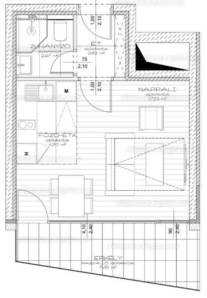 Villa Bauhaus - 1 szoba erkéllyel