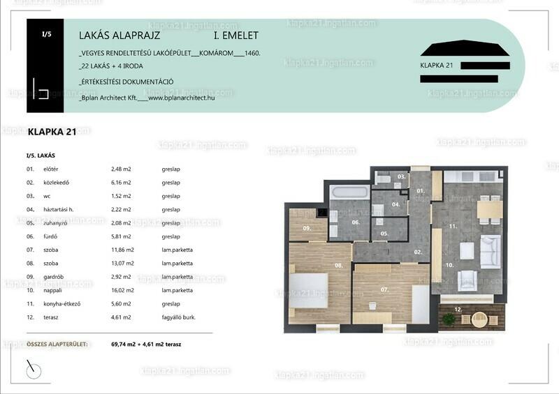 KLAPKA 21 - 3 szoba erkéllyel