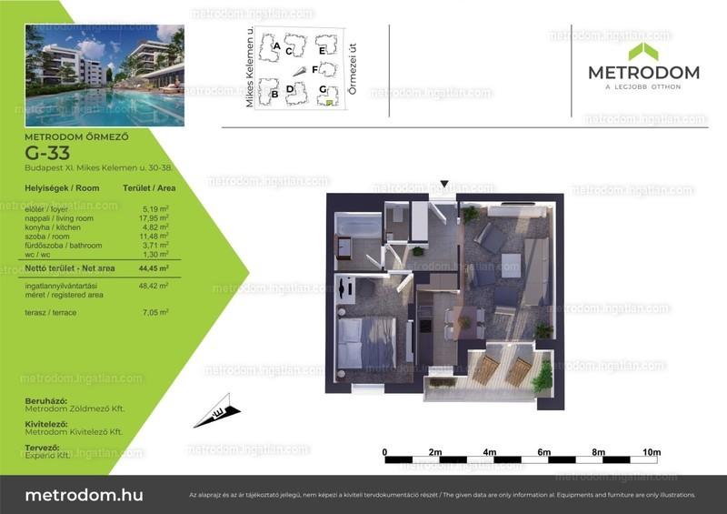 Metrodom Őrmező - 1 + 1 szoba erkéllyel