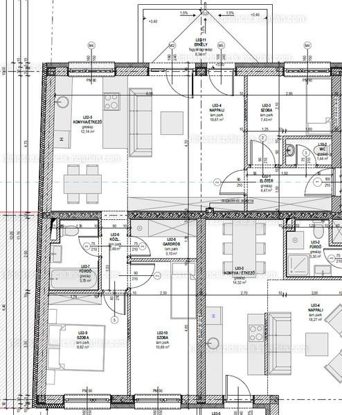 Vilmos Rezidencia - 3 szoba erkéllyel