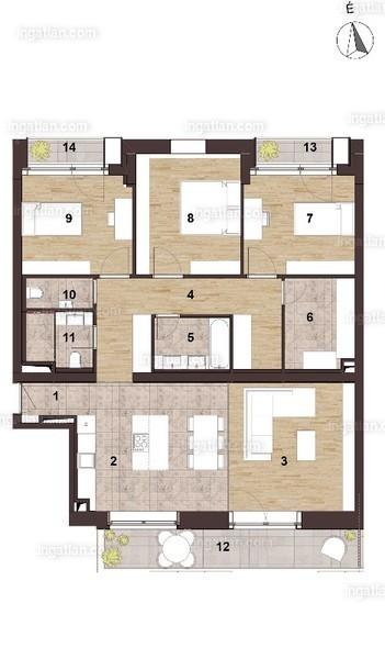 Elite Park - 3 + 1 szoba erkéllyel