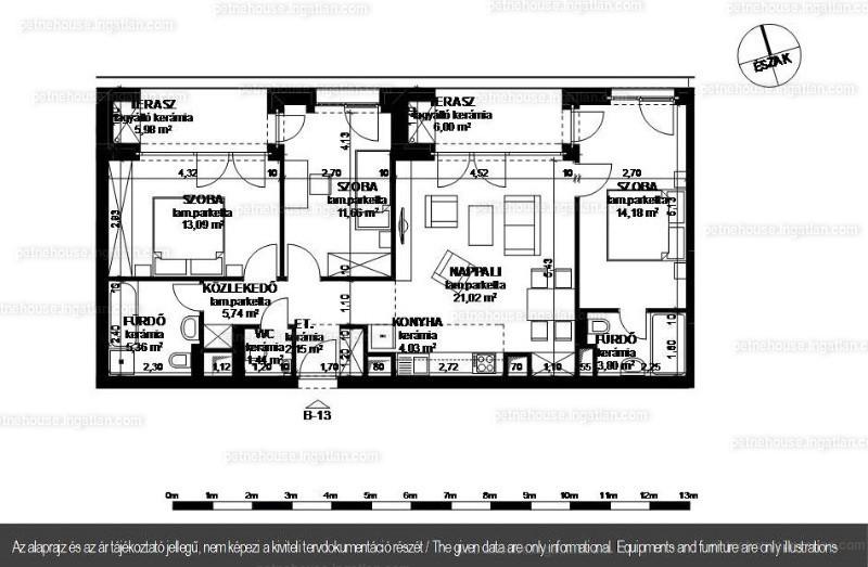 Petneház Társasház - 1 + 3 szoba erkéllyel