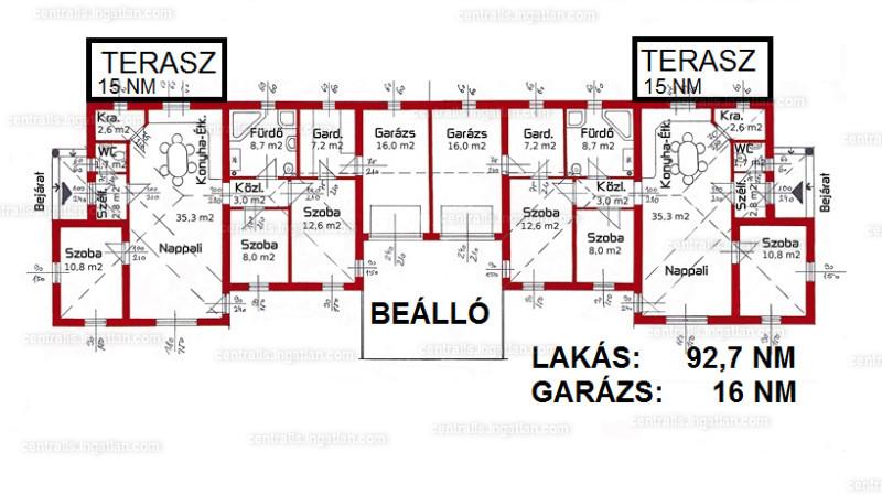 Ingatlan, eladó ház, Veszprémvarsány, Győr-Moson-Sopron, 109 m2