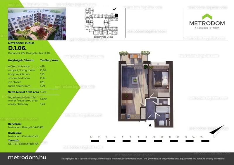 Metrodom Zugló - 1 + 1 szoba erkéllyel
