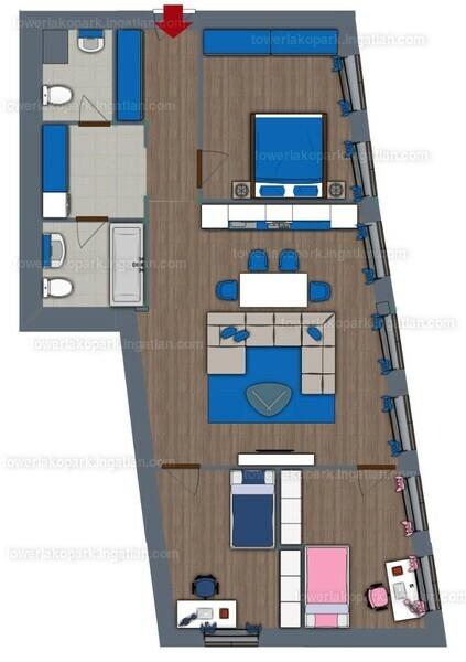 Tower Lakópark - 4 szoba