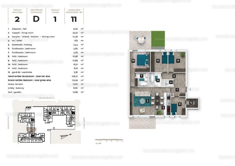 Kassák Residence - 5 szoba kertkapcsolattal