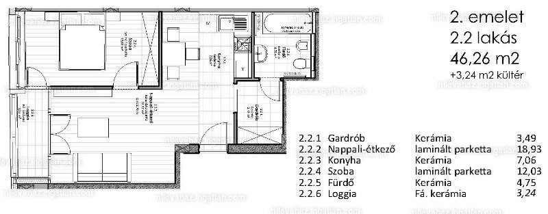 Miléva Ház - 2 szoba erkéllyel