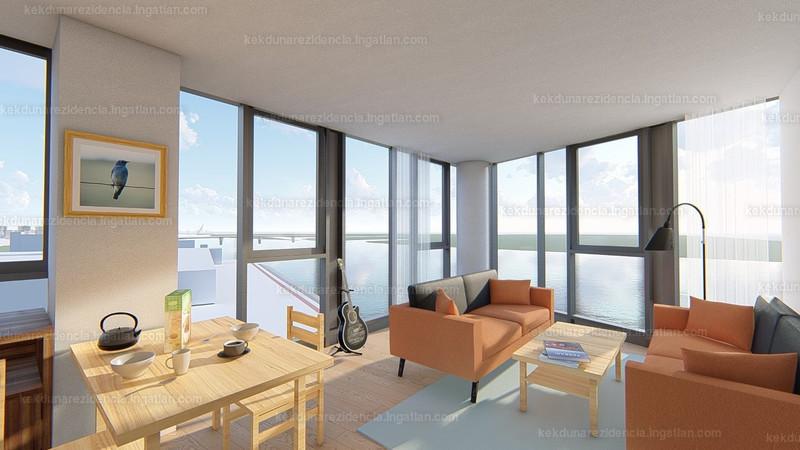 Kék-Duna Rezidencia - 2 szoba erkéllyel