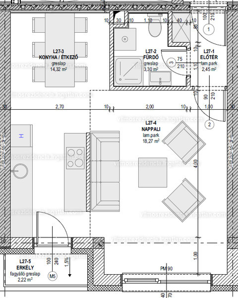 Vilmos Rezidencia - 1 szoba erkéllyel
