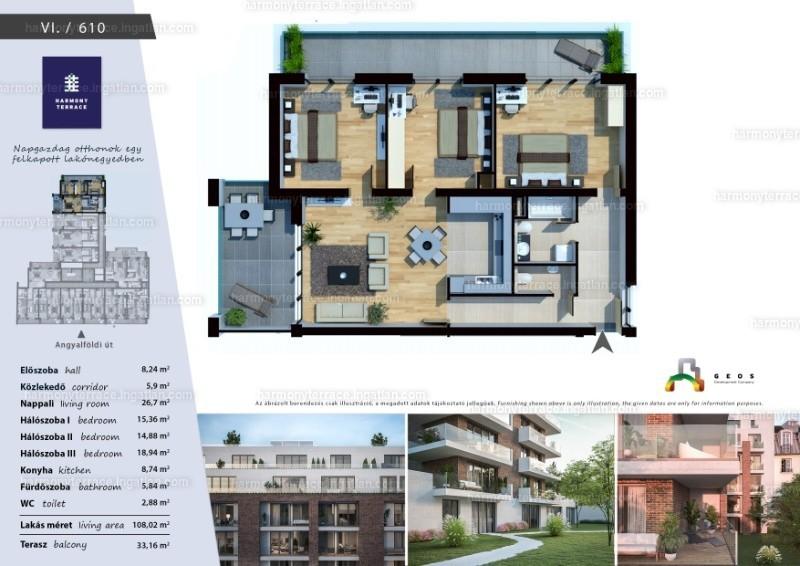 Harmony Terrace - 4 szoba erkéllyel