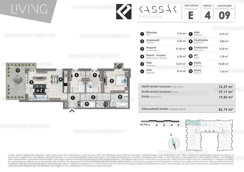 Kassák Passage - 4 szoba erkéllyel