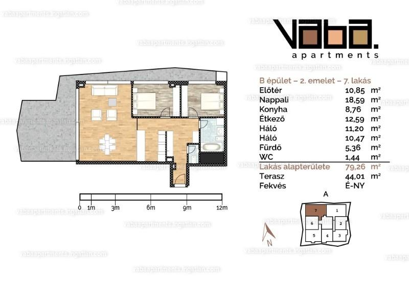 VABA apartments - 3 szoba kertkapcsolattal