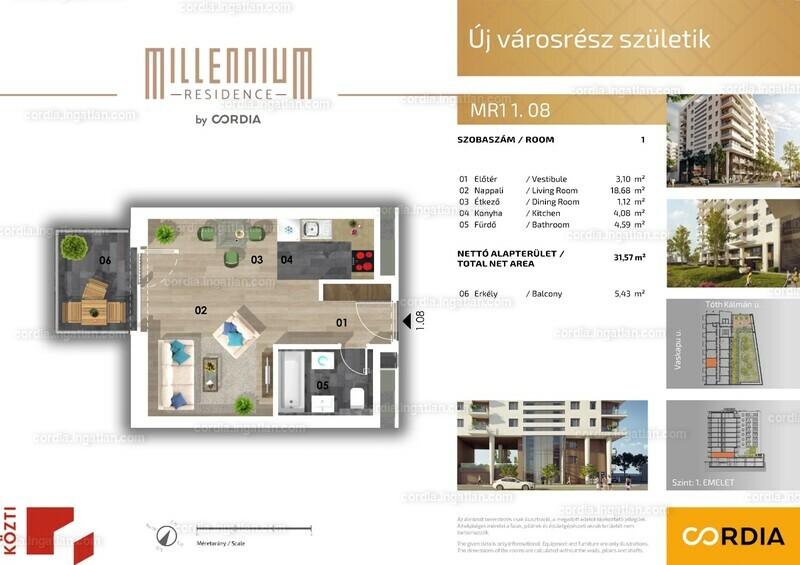 Millennium Residence by Cordia - 1 szoba erkéllyel