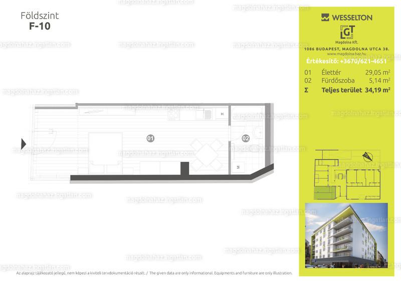 Magdolna ház - 1 szoba