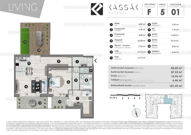Kassák Passage - 3 szoba erkéllyel
