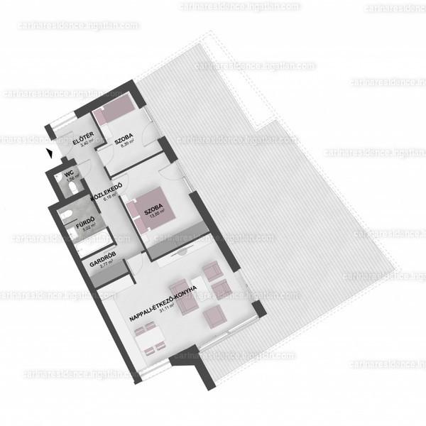 Carina Residence - 3 szoba erkéllyel