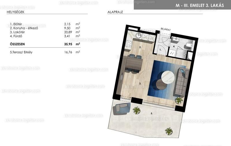 Mistral Residence - 1 szoba erkéllyel
