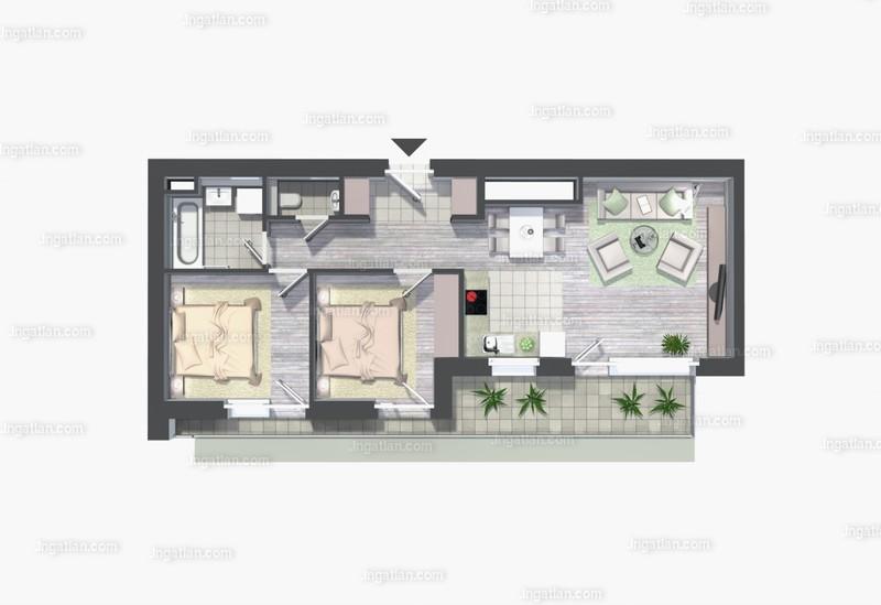 Kelenliget Ház - 3 szoba erkéllyel