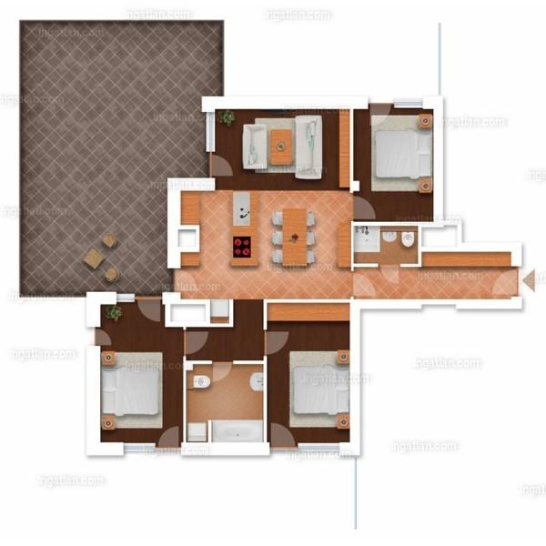 Somfa Liget VII. ütem - 3 + 1 szoba erkéllyel