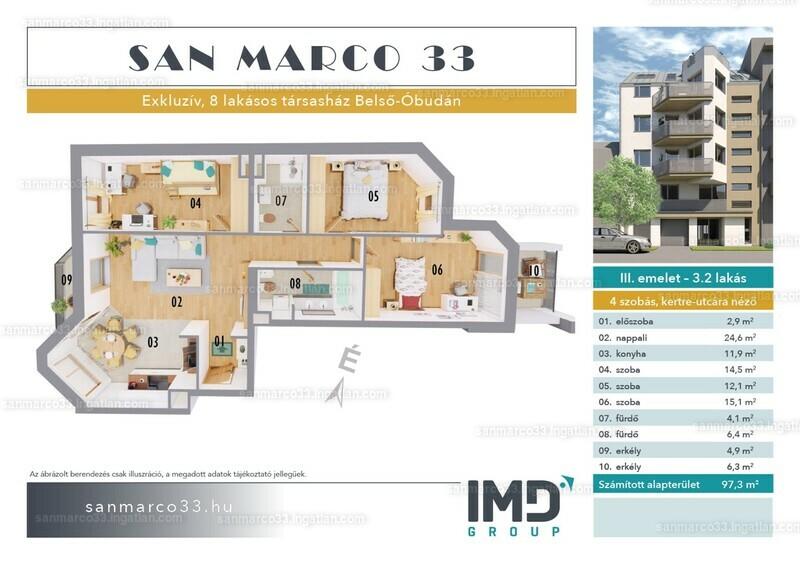 SAN MARCO 33 - 4 szoba erkéllyel