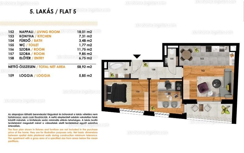 Tolnai Residence - 3 szoba erkéllyel