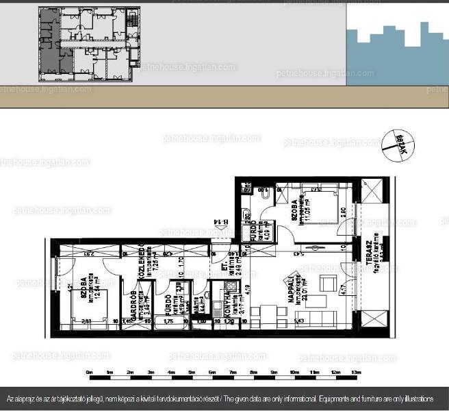 Petneház Társasház - 1 + 2 szoba erkéllyel