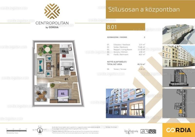 Centropolitan by Cordia - 2 szoba erkéllyel