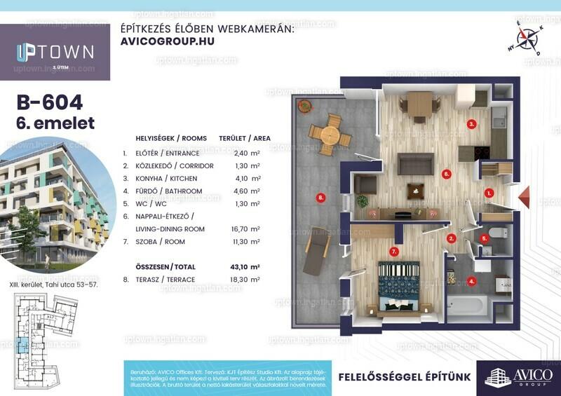 Uptown 2. ütem - 2 szoba erkéllyel