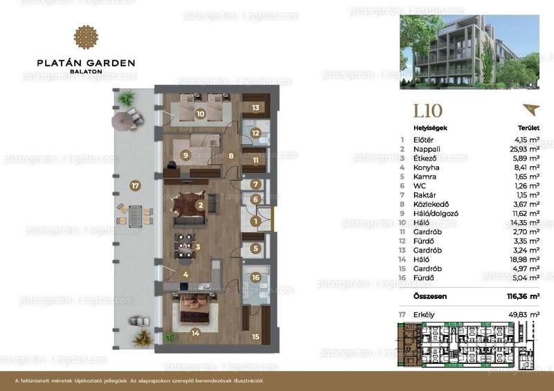 Platán Garden Balaton - 4 szoba erkéllyel