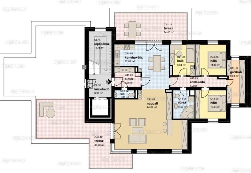 Park Város  Lakópark - 1 + 3 szoba erkéllyel