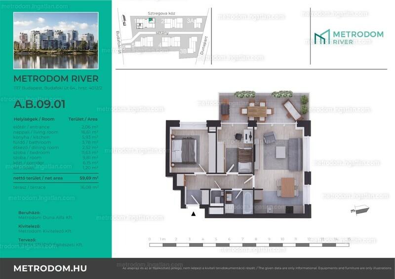 Metrodom River - 2 + 1 szoba erkéllyel