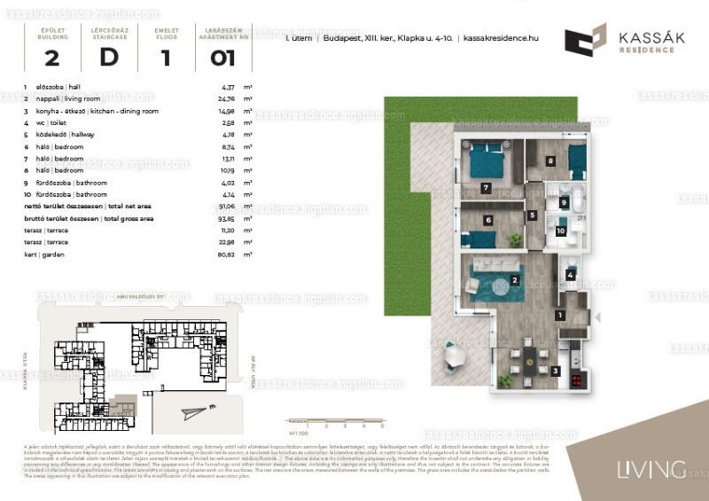 Kassák Residence - 4 szoba kertkapcsolattal