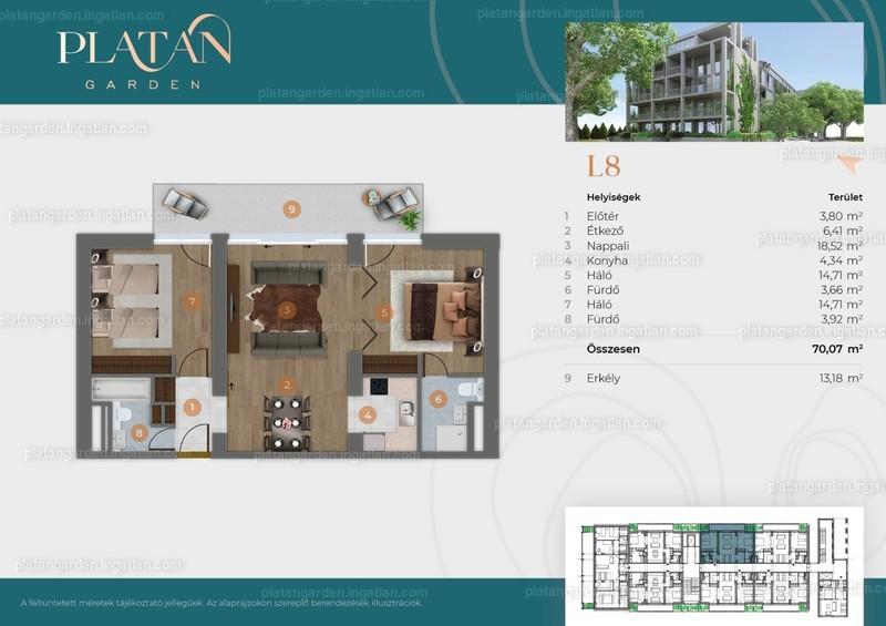 Platán Garden - 3 szoba
