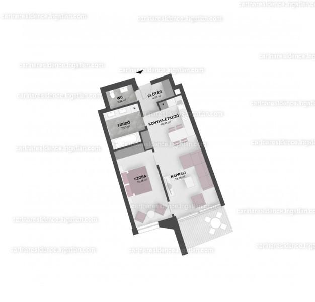 Carina Residence - 2 szoba erkéllyel