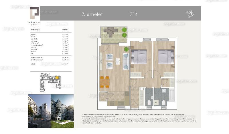 Pápay Park - 1 + 2 szoba erkéllyel