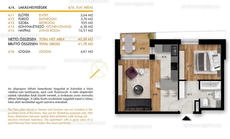 H5 Residence - 2 szoba erkéllyel