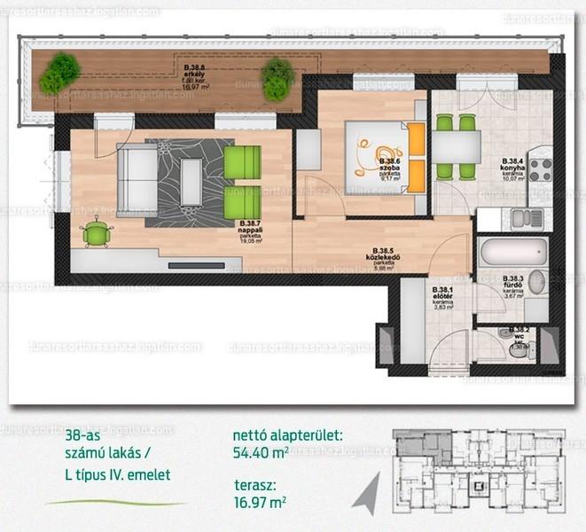 Duna Resort Társasház - 1 + 1 szoba erkéllyel